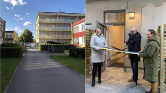 Invigningen förrättades av Victoria Parks VD Per Ekelund, Victoria Parks områdeschef Eleonor Biberg, samt Kommunstyrelsens ordförande i Linköping Niklas Borg via digital hälsning.