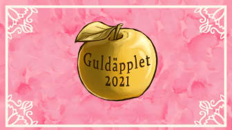 Guldäpplet 2021 - Studentkårens pris till årets lärare vid Högskolan i Skövde. Illustration: Alvina Månsson