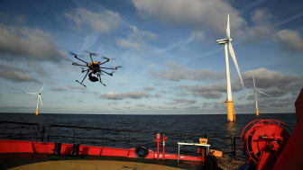 EWPL Ocean will inspect Offshore WTG Blade Assessment more efficient through drones and AI-assessments. Photo: helvetis.com