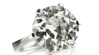 Jan Stockmarr: A diamond solitaire ring weighing app. 9.29 ct. Estimate: DKK 500,000-600,000  / € 67,000-80,000