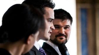 Admir Lukacevic och Fahrudin Zejnic, Kompassrosstipendiater 2008. Foto: Stiftelsen Ungt Ledarskap