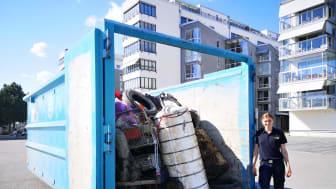 Räddningstjänsten fick upp 1,5 ton skräp från Mälarens botten!
