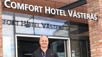 Fredrik Elfgren, hotelldirektör på Comfort Hotel Västerås. Bild: Nordic Choice Hotels.