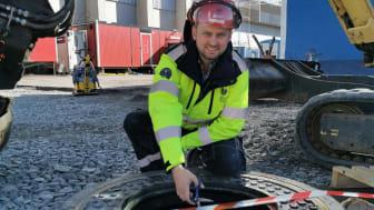 Johan Ekblad inviger dagvattenreningen