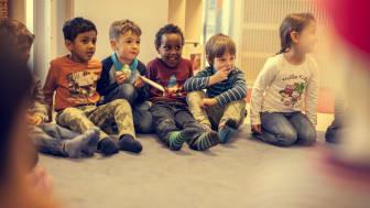 I Betha Thorsen Kanvas-barnehage på Frogner er flere enn 20 nasjonaliteter representert blant barn, foreldre og ansatte.
