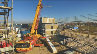 Snabbt och effektivt montage på byggplatsen har flera fördelar - mindre störningar för närboende är en.