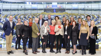 1,6 & 2,6 miljonerklubben besökte EU parlementet i Bryssel.