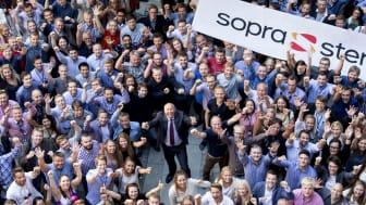 "FORNØYDE: Sopra Steria er ""Årets klatrer"" og er ranket blant de ti mest populære arbeidsgiverne i Norge innen teknologi."
