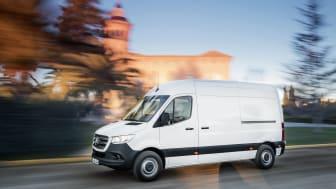 Mercedes Sprinter får automatgear og tyverialarm som standard