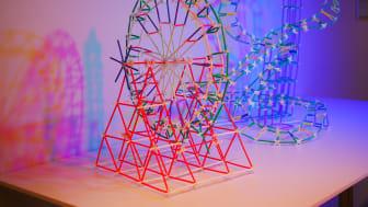 Eco Fun Park skapad med det pedagogiska byggmaterialet 4DFrame. Foto: Eva Lönn