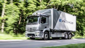 Premiär för Mercedes el-lastbil: 536 hk, 27 ton och 40 mil räckvidd.