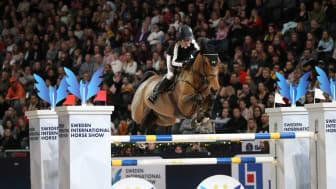 Malin Baryard Johnsson, ridande sportchef för Sweden International Horse Show. Foto: Roland Thunholm