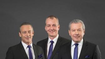 Die Geschäftsführer der tribus IT: Olaf Schäfer, Thorsten Dietz, Ulrich Lahme-André (v.l.n.r.). Foto: tribus IT