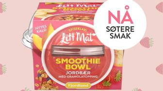 Etter ønske fra forbruker har Litt Mat Smoothie Bowl jordbær blitt søtere