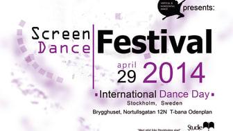 Studiefrämjandet och Vertical & Horizontal Dance inbjuder till gratis Screen Dance Festival på Dansens Dag den 29 april
