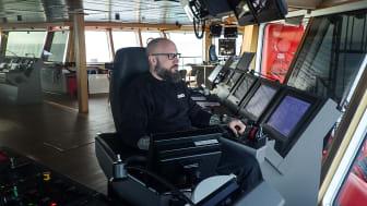 Morten Dragsbæk Holm, nu skibsfører på 'Esvagt Njord' og tidligere på 'Esvagt Aurora'.
