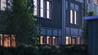Arkitektritade radhus på Brunnshög i Lund