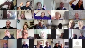 Local stroke choir sings with soprano Laura Wright to keep spirits up