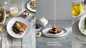 De tre nominerade produkterna till Årets Foodservicevara 2019. Foto: Susanna Blåvarg
