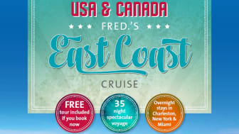 Take a 'Voyage to the American Deep South' with  Fred. Olsen Cruise Lines in Autumn 2015