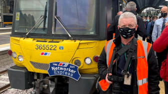 Mark Pountain at the final run of the Class 365 out of King's Cross. Mark has been with the trains their entire life