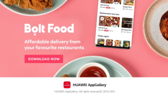 Bolt Food lanseras i AppGallery
