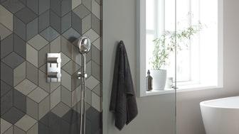 Bell inbyggnadsblandare för dusch.