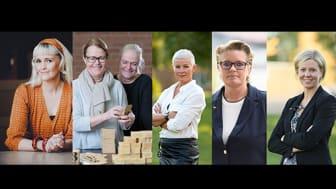 Linnea Falinger, Casamansea; Karin och Sara Ström, Terrible Twins, Angelica Ekholm, vd Dalarna Science Park, Marie Ericson, Enterprise Europe Network, Victoria Ställber, affärsutveckling/inkubatorn Dalarna Science Park