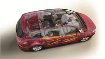Topkarakter i sikkerhed til Fords populære familiebiler