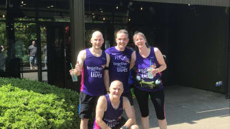 A Longleat Forest team ran a marathon distance around the hilly village