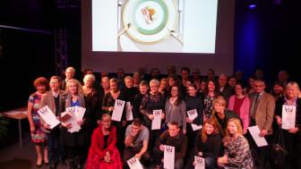 Pristagarna i Årets Svenska Måltidslitteratur samlade på Sveriges Radio, foto: Pelle Agorelius, Grythyttan