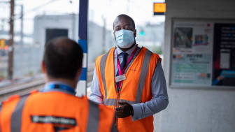Thameslink station manager Marc Asamoah, putting safety first with his team