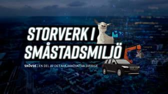 """Idag den 1 december är det premiär för dokumentärfilmen """"""""Storverk i småstadsmiljö: Skövde – en del av det nya innovativa Sverige"""". Bild: Next Skövde""""."""