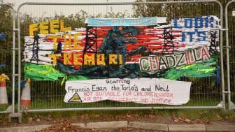 Fence art at the Preston New Road site in Lancashire (Photo credit: Anna Szolucha)