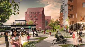 Arkitema Architects och Nyréns landskap vann tävling i Alby !