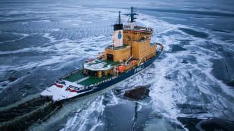 Isbrytaren Frej inledde på ondagen sin isexpedition. Hon kommer inledningsvis att assistera i norra Bottenhavet.