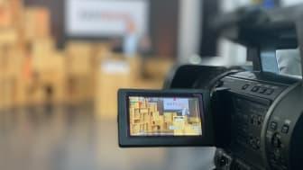 """EASTWOOD fand 2021 digital im eigens dafür eingerichteten """"Studio"""" im Media-Loft der HTWK Leipzig statt. Foto: Rudolf Müller Mediengruppe/ Ulrich Wolf"""
