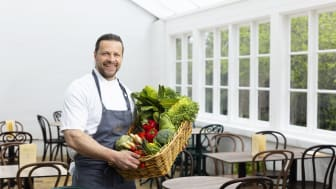 Marcus Nemrin, restaurangchef i det nyöppnade Orangeriet. Foto: Martin Sörbo