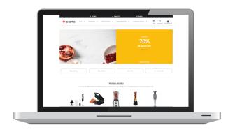 Exempel på gränssnitt för Storefront från Sigma Unified Commerce.