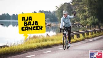 Arijola Delija cyklar tur och retur Malmö -Stockholm för barn som drabbats av cancer.