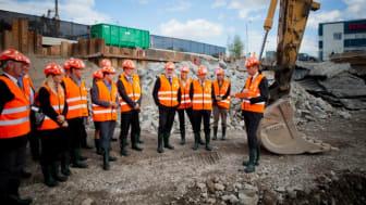 Spadtagsinvigning för Swedbanks nya huvudkontor i Sundbyberg