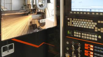 Rörlaser Mazak Fabri Gear 400 3D med integrerad gängningsfunktion.