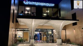 """Vordach """"Asymptotic Canopy"""" für ein Design-Hotel in Kösching"""