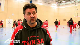 Tonga rugby team training at Sport Central