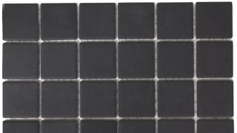 Mosaik Eventyr Lysene Sort 4,7x4,7, 548 kr. M2.