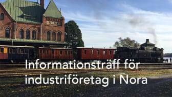 Bild över Noras gamla tågstation. Fotograf: Klas Brynte.