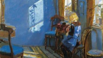 Anna Ancher, Solskinn i den blå stue (1891)