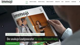 Das neue Immoji®-Portal:Alles unter einem Dach, was clevere Immobilienprofis für ein professionelles Print-Marketing wirklich benötigen
