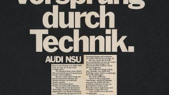 Første brug af sloganet Vorsprung durch Technik i 1971