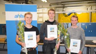 Från vänster: Melvin Segemo, Hannes Johansson och Petter Gustavsson